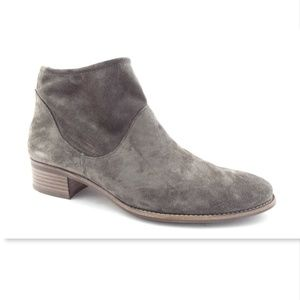 New PAUL GREEN Gray Suede Ankle Booties UK6/US8.5